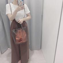 GUの「サロペットワイドパンツ」が大人っぽかわいい♡トレンドのブラウンコーデにもぴったりでした!