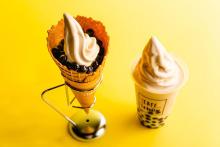 自家製ミルクティーソフトクリームを使用。「ラ・ボエム クアリタ 渋谷」のタピオカスイーツがおいしそう♡