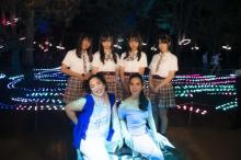 夜の大阪城を吉本興業などがリプロデュース NMB48山本彩加、上西怜、梅山恋和、山田寿々が内覧会参加