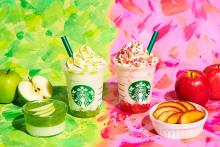 """この秋飲みたいスタバの新作!旬のりんごを使った""""グリーン""""と""""ピンク""""のカラフルなフラペチーノが登場♡"""