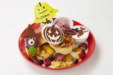 """ハロウィンのキャラクターたちがお皿の上に大集合♡パンケーキ専門店「バター」で""""ハロウィンフェア""""が開催"""