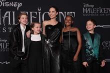アンジー、子どもたちと一緒に迎えた『マレフィセント2』ワールドプレミア