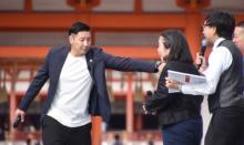 """【京都国際映画祭】チョコプラ・長田、大臣のSPになりきり過ぎる 撮影は""""写り込み""""風に"""