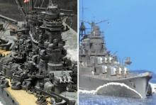 """機械が生む""""美しさ""""とは? 軽巡洋艦『三隈』の巨大な艦首波と、『大和』の建造物としての威風"""