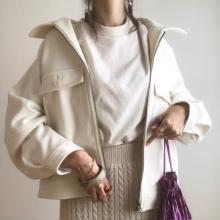 GUの「ビッグポケットジャケット」は値下げしている今がチャンス!くすみピンクの絶妙カラーに一目惚れです…