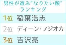 """男性が選ぶ""""なりたい顔""""にB'z稲葉浩志 歴代最高齢で首位更新"""