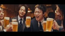 菅田将暉&中村倫也がCM初共演 ビジネスマン役熱演「ビールがうまい。この瞬間がたまらない」