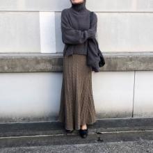 体のラインが出ない方が色っぽい?この冬1番履きたい「ケーブルニットフレアスカート」で大人な印象に♡