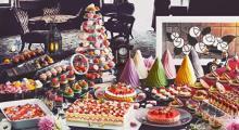 老舗とコラボしたカラフルあんこがキュート♡はいからスイーツブッフェ「いちごとあんこ」が都ホテル京都八条にて開催!