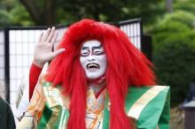 『ドクターX』海老名が白塗り鏡獅子に!? 遠藤憲一「俺の顔、怖いよ!(笑)」