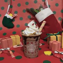 スタバ新作フラペチーノはチョコ×ポテトチップで甘じょっぱおいしい♡クッキーストローもポップでかわいんです
