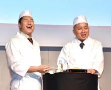 チョコプラ、そばイベントで「これはうまい柿」とボケ連発 ものまね新ネタはアグネス・チャン次男