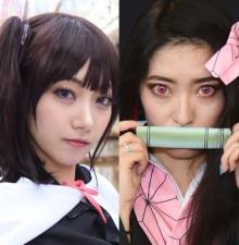 大人気『鬼滅の刃』カナヲ&禰豆子に扮する美女がこだわり披露「初出しなので、今後さらに良くなる」
