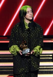 【グラミー賞】最優秀新人賞にビリー・アイリッシュ 「ファンのおかげ」と感謝しきり
