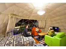 バス&トイレがテントに連結!便利で快適な新感覚グランピング施設が誕生