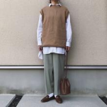 レイヤードに神バランス過ぎる。ユニクロの「オーバーサイズロングシャツ」が本当に絶妙の丈感でおすすめです◎