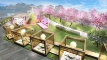 プライベートな時間が過ごせそうな和のスペシャル席も登場!東京ミッドタウンのお花見イベントがステキ♡