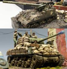"「M4シャーマン戦車」「M40ビッグショット」に込めたジオラマの""物語性"""