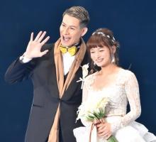 【TGC2020SS】JOY&わたなべ麻衣夫婦がウエディング衣装で登場「さらに好きになった」