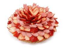 満開の桜と葉桜をイメージ!春を感じる「カフェコムサ」の2種の桜ケーキ