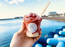 まるごとイチゴを削った新感覚かき氷がおいしそう♡沖縄発「果物けずり」専門店が河口湖町に初上陸!