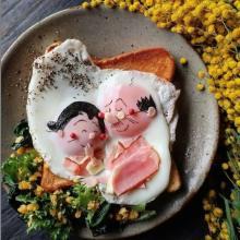 波平とフネの目玉焼きアートに反響…投稿者語る料理のきっかけ「少しでも食に興味を。自分も楽しく作れたら」