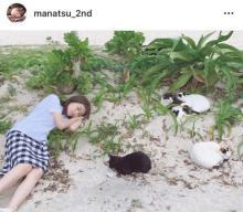 """秋元真夏、""""猫とお昼寝""""ショット公開「猫ちゃんになりたい」「まにゃつだ」"""