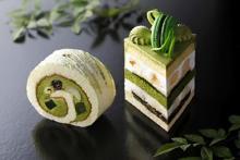 宇治抹茶を主役にした断面美に注目!ホテルニューオータニ、初夏の極上ケーキは「着物美人」をイメージ♡