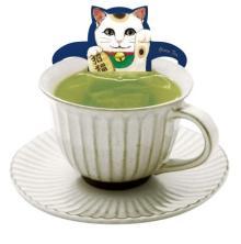 緑茶×お気に入りのお菓子でほっこり癒されたい♩ネコ型ティーバッグ「キャットカフェ」に初の和テイストが仲間入り♡