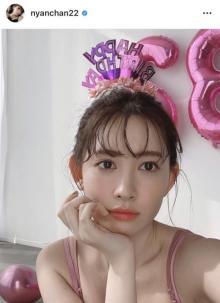 小嶋陽菜、豊満な胸元チラリなキャミ姿「世界中の誰よりも美しい32歳」「眼福です」
