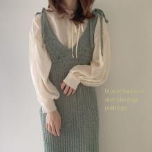 GUの「透かし編みニットキャミソールワンピース」がじわじわ人気♩涼し気素材が夏にぴったりなかわいさです◎