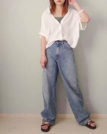 【GU】えっこれ990円?「エアリーシャツ」がコスパ最強アイテム。洗濯をしてもしわになりにくい優れもの♪