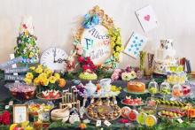 お花を散りばめたティースイーツにうっとり♡インターコンチネンタル東京ベイの夏ブッフェは「アリスのお茶会」がテーマ!