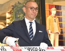 市川海老蔵、銀座ユニクロオープニングセレモニーに登場「息子と娘を連れていきたい」