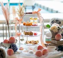 ピーチの甘~い香りに包まれたい♡ラ・スイート神戸、夏のアフタヌーンティーは贅沢な桃づくしなんです♩