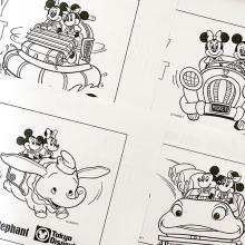 ディズニー公式から出てる「ぬり絵」がレトロかわいいって知ってた?サイトから無料でゲットできちゃいます♡