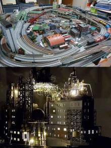 """高密度の線路に工場夜景…""""ちょっとした違和感""""が注目されるジオラマのキーワード"""