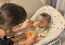 高橋ユウ、息子の離乳食開始に「こうして離れていくんだなぁ」と心境明かす