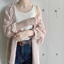 ユニクロの「シアーバンドカラーシャツ」が全色買いしたいかわいさ♡高見え抜群の今っぽシャツだから要チェック