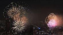 『隅田川花火大会』生放送中、東京近郊3ヶ所から特大花火の打ち上げ敢行