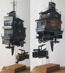 """近未来の日本の姿?「浮遊邸」制作モデラーが投げかけた""""空に住む理由"""""""