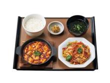 ボリューム満点!「やよい軒」に人気の中華料理を組み合わせた定食が登場