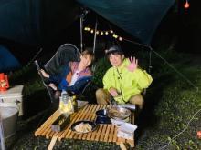よゐこ濱口、妻アッキーナに初めての手料理 夫婦で初キャンプに挑戦