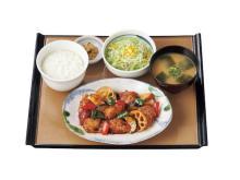 """1/3日分の野菜が摂れる!「やよい軒」が""""彩野菜と鶏の黒酢あん定食""""を発売"""
