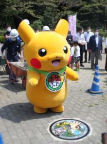 """ポケモンマンホール""""ポケふた""""が東京・町田に設置 ピカチュウも駆けつけ子ども達を笑顔に"""