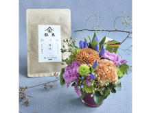 敬老の日の贈り物に!フラワーアレンジメントと京都老舗のお茶のセット発売