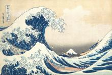 """名作「神奈川沖浪裏」大波より富士山メイン? """"自然と人々の関係性描いた作品""""小学館が独自分析"""