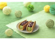 あんこたっぷり!『KASANELどらやきロールアイス抹茶・バニラ』発売