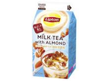 「リプトン」紙パックにアーモンドミルクの香ばしさ薫るミルクティーが登場