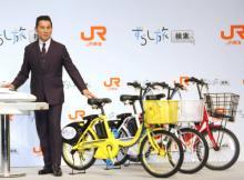 """本木雅弘、3色自転車に即反応""""シブがき隊""""のカラー 一部そろわずも笑顔"""